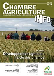 chambre agriculture 16 développement agricole la clè des chs revue chambre d