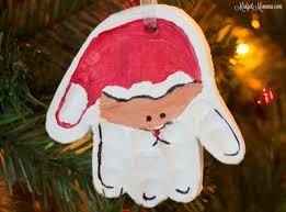 handprint santa ornament diy santa ornament with handprint