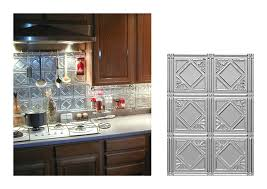 U Shape Kitchen Decoration Using Silver Metal Kitchen Backsplash - Metal kitchen backsplash