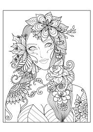 flowers coloring pages for adults justcolor