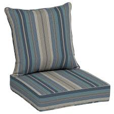 Porch Chair Cushions Shop Allen Roth Stripe Deep Seat Patio Chair Cushion For Deep