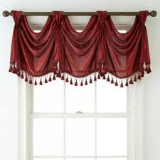 Red Scarf Valance Royal Velvet Hilton Big Scarf Valance