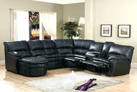 Black Leather Sectional Sofa Recliner Sectional Sofa With Recliner And Chaise More Views Sgmun Club