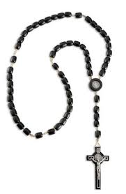 buy rosary buy mens st black benedict solid wood rosary large 138457908697