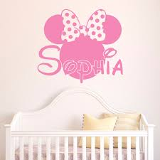 minnie mouse wall decals etsy color the walls of your house minnie mouse wall decals etsy girl name wall decal minnie mouse wall decals by fabwalldecals