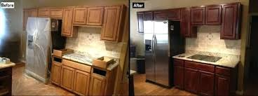 kitchen cabinet stain colors on oak staining oak kitchen cabinet refinishing before after wood stain
