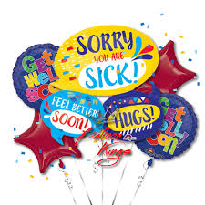 get well soon balloons get well soon bubbles bouquet balloon