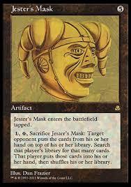 jesters mask jester s mask mtgo masters edition ii