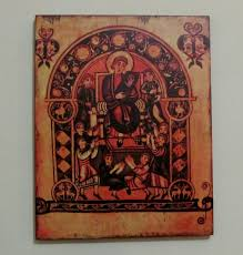 vespasian psalter king david and musicians wooden wall hanging