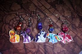 my pony earrings my pony friendship is magic earrings by kourankiyo on