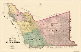 California Missions Map Old County Map Alameda California Landowner 1878