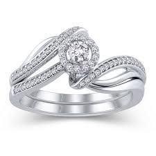 bridal ring sets canada 10k white gold jk i2i3 diamond bridal ring set walmart canada