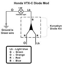 vtx 1800c diode fix bareass choppers motorcycle tech pages