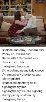 Bernadette Meme - sheldon and amy leonard and penny or howard and bernadette comment