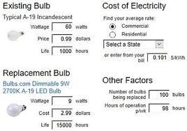 light bulb cost calculator lighting savings calculator democraciaejustica