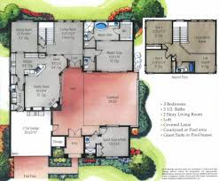 courtyard home floor plans floor plan u shaped house plans on home with unique floor plan