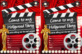 hollywood theme party invitations u2013 frenchkitten net