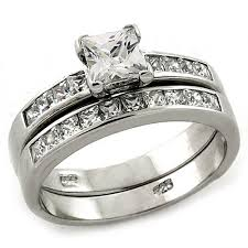 princess cut wedding ring arloas1187 s 925 sterling silver rhodium plated 2 15ct