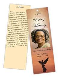memorial bookmarks memorial bookmarks radiance bookmark template