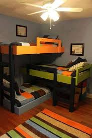 Space Saving Bed Ideas Kids 51 Best Triple Bunk Beds Images On Pinterest Bunk Rooms Bed