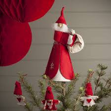 nordic christmas santa tree topper by the contemporary home