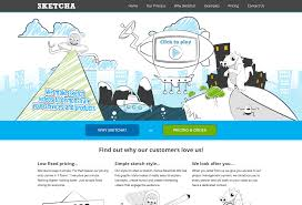 sketch style animated video production categorized website