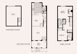 Townhome Floor Plan by Paseo In Ft Myers New Homes And Condos