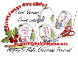 making moments christmas card verses u2013 freebies print