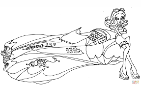 draculaura car coloring page free printable coloring pages