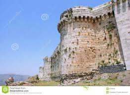 Krak Des Chevaliers by Krak Des Chevaliers Crusaders Fortress Syria Stock Photo Image