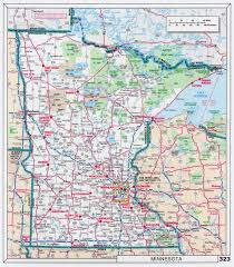 Map Of Mississippi State by Large Scale Roads And Highways Map Of Minnesota State With