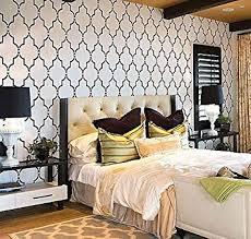 Stencils For Home Decor Amazon Com Wall Stencil Marrakech Trellis Lg Reusable