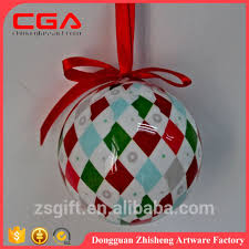handmade plastic ball with paper wrap christmas tree decorations