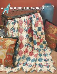 crochet blanket pattern around the world afghan granny square 5 00