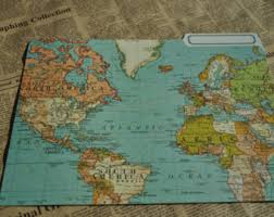 cavallini file folders vintage look world map gift wrap or poster by cavallini from