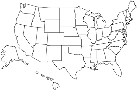 blank united states map with states and capitals geography united states outline maps