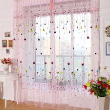 Girly Window Curtains by Aliexpress Com Buy New 100x200cm Flower Heart Balloon Tulle