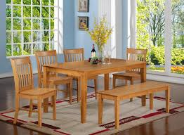 Natural Wood Dining Room Sets by Decoration Dining Table With Bench Seating Charming Idea Shabby