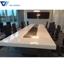 White Meeting Table China Meeting Table Office Furniture Specification 12 Person White