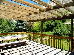 Sunscreen Patios And Pergolas by Outdoor Space Makeover Painted Floors U0026 Diy Drop Cloth Shade