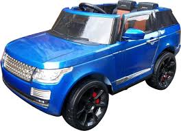 land rover kid range rover sport autobiography style 12v electric jeep blue
