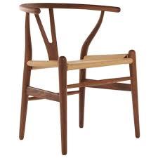 wishbone style hemp weave chair in walnut overstock