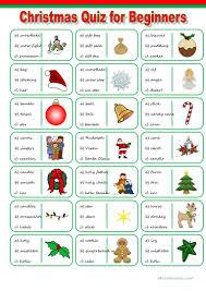 25 free esl christmas quiz worksheets