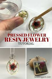 diy resin necklace images How to make pressed flower resin jewelry the beading gem 39 s jpg