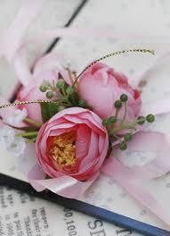 wrist corsage 20 89 light pink silk cloth flower wedding wrist corsage for