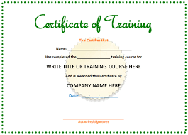 professional training certificate templates about ms word templates