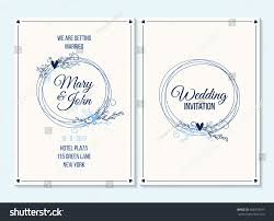 wedding invitation thank you card save stock vector 563473297