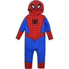 Baby Spider Halloween Costume Amazon Marvel Spiderman Baby Costume Coverall Hood Clothing