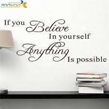 wall decals quotes quotesgram believe in yourself home decor creative quote wall decal zooyoo8037