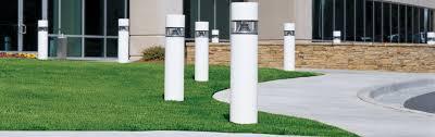 Solar Powered Bollard Lights - bollard lighting pathway lights walkway sidewalks dimmable led eaton
